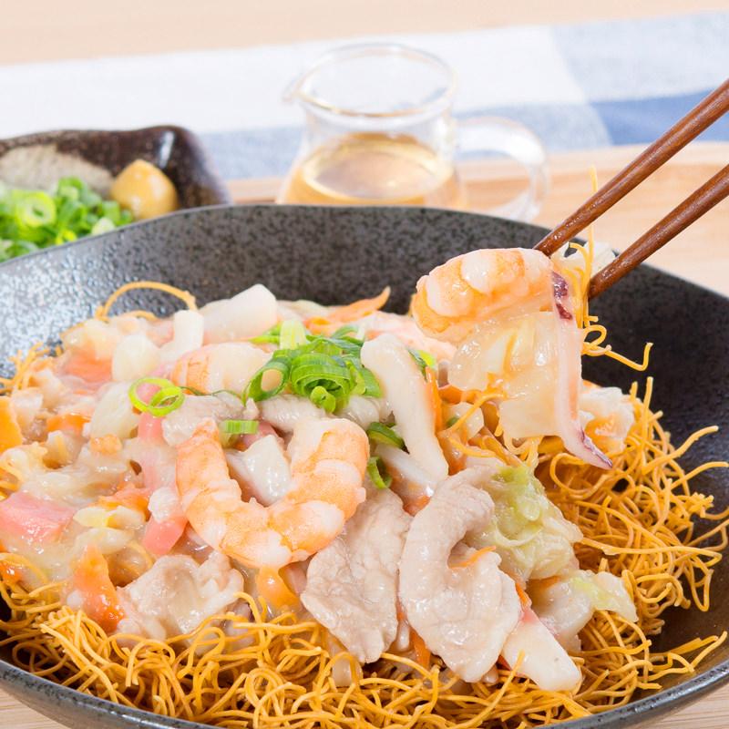 長崎 こじま製麺 冷凍 海鮮具材付き ちゃんぽん 皿うどん〔ちゃんぽん450g×2食・皿うどん350g×2食〕