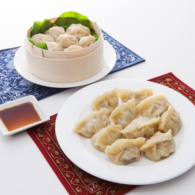 小龍包、餃子セット 徐福長寿星株式会社 福岡県 こだわりの製法。中国の宮廷料理の味を再現した本場の小籠包・餃子です