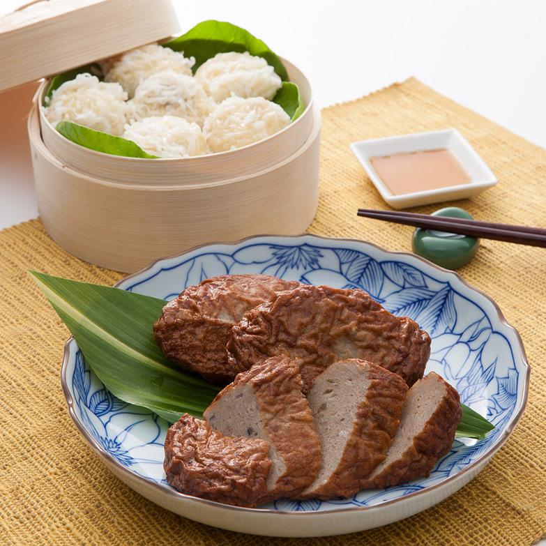 有明海鮮しゅうまい+エイハンバーグセット 株式会社オフィス・タカハシ 佐賀県 有明海産ナルトビエイでつくりました