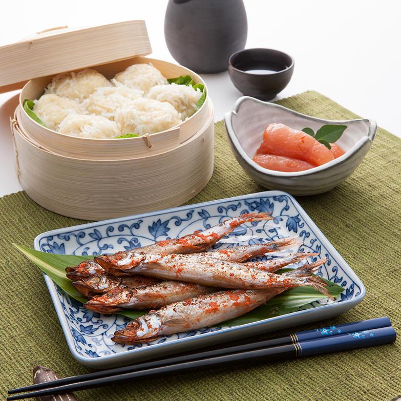 お酒の肴三昧セット 株式会社オフィス・タカハシ 佐賀県 酒の肴にはうってつけの「しゅうまい」「めんたい切子」「ししゃもめんたい」のセット