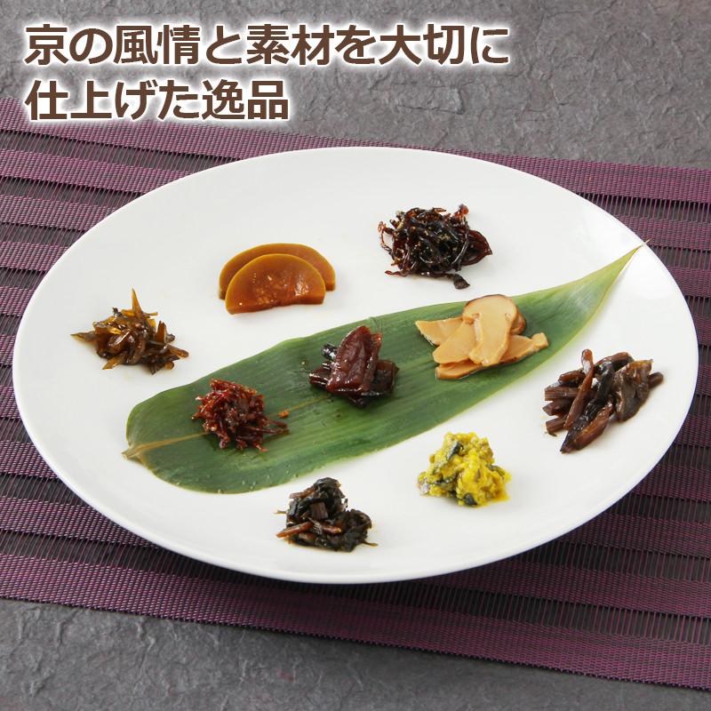 味楽選〔松茸しぐれ(釜飯の素)、げんこつ漬、松茸昆布、山椒ちりめん、葉わさび、山ぶき、ししゃもきくらげ、しそわかめ、からし漬け〕