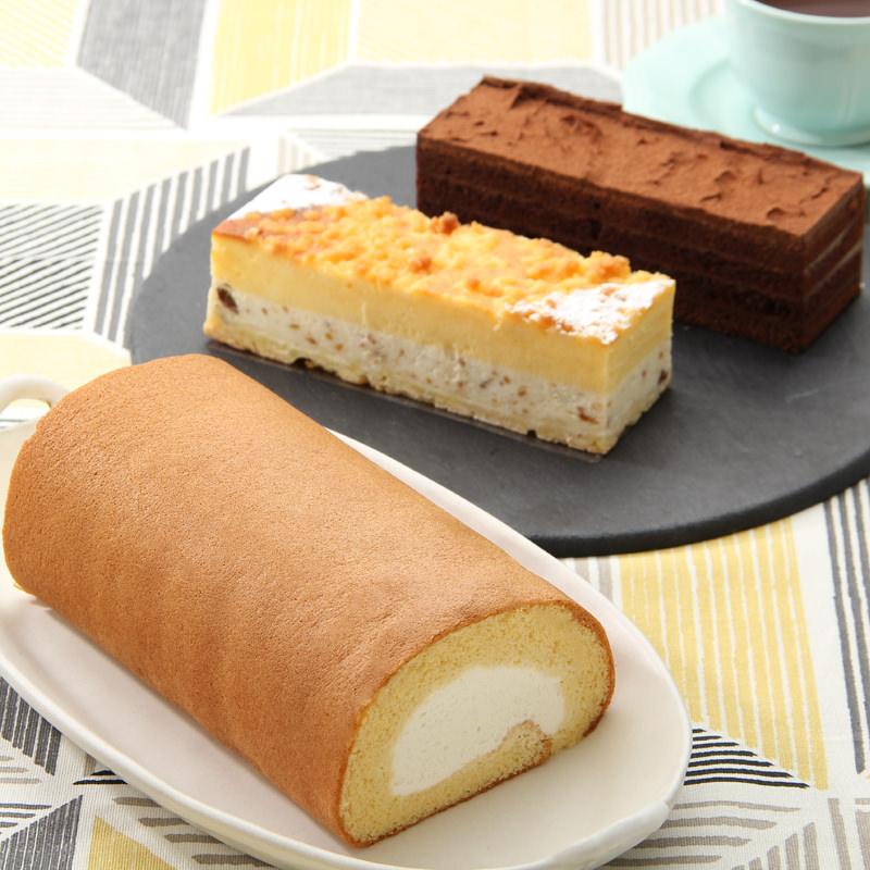 大阪スイーツ_和三盆ロールケーキ・ショコラ・ドゥーブルセット