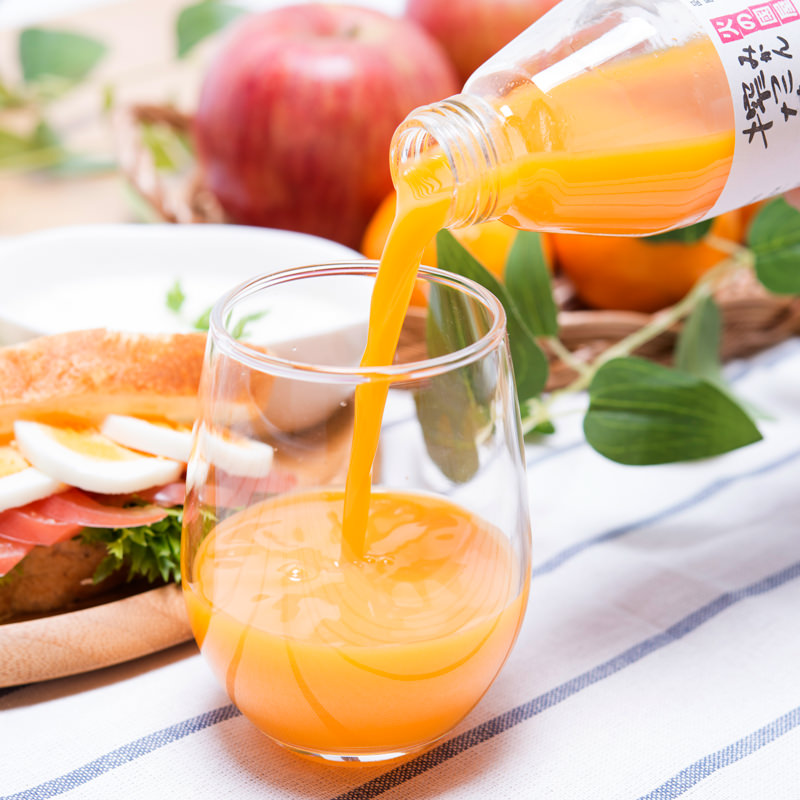 高品質くだもの専門店の 無添加 果汁100% しぼったまま果汁 6本飲みくらべセット〔200ml×6本〕