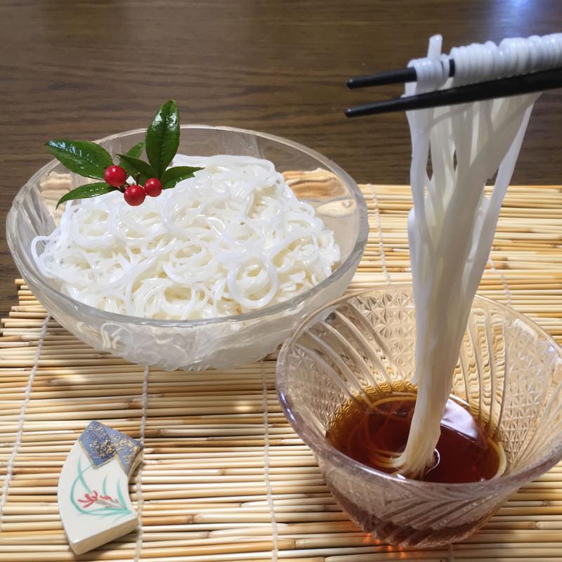 三輪の七福素麺「幸せ」5個セット〔白素麺(50g)×7束×5個〕