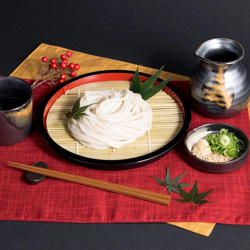 もち麦うどん 10食 スープ付き〔麺200g×5袋・創味だし10袋〕