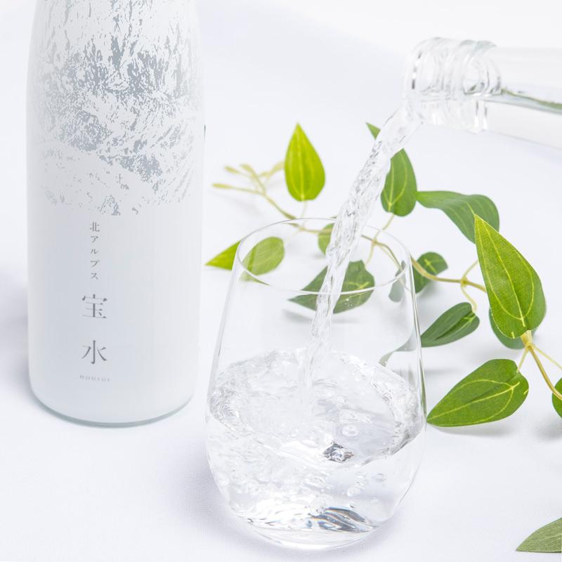 富山県 北アルプス立山の天然水 宝水 ガラスボトル入り〔480ml×12本〕