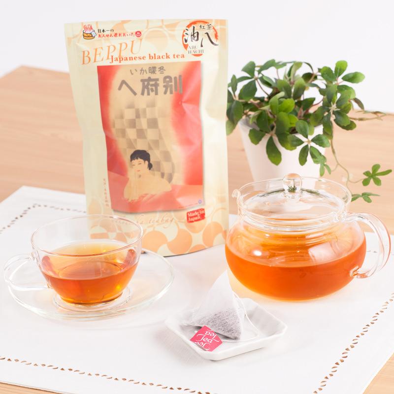 おおいた茶グリーンと別府油八銘茶紅茶オリジナルティーバッグセット〔緑茶×1本・煎茶×15p・紅茶×18p〕