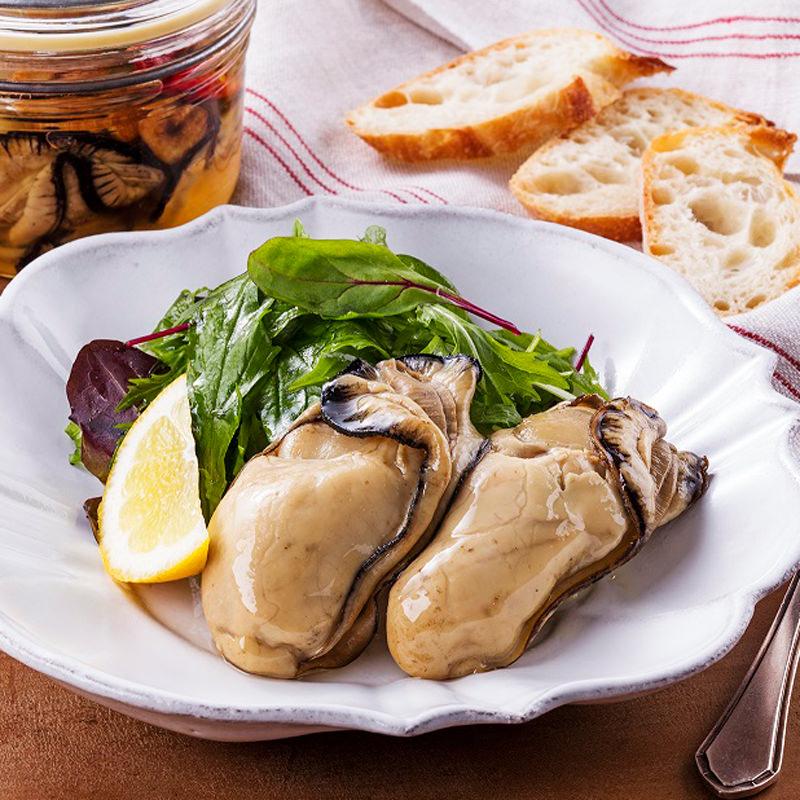 苫屋の牡蛎燻製オイル漬セットNS〔牡蠣燻製オイル漬(固形分140g,内容総量280g)x2種〕