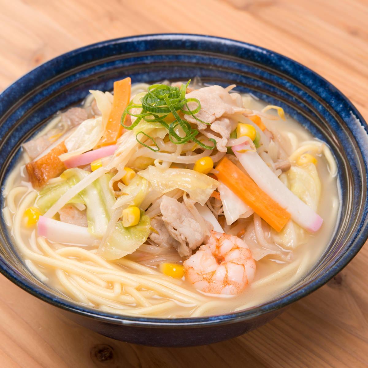 昔懐かしい中華そば 美味しいラーメン 築地の中華そば チャンポン 6食〔チャンポン麺×6〕