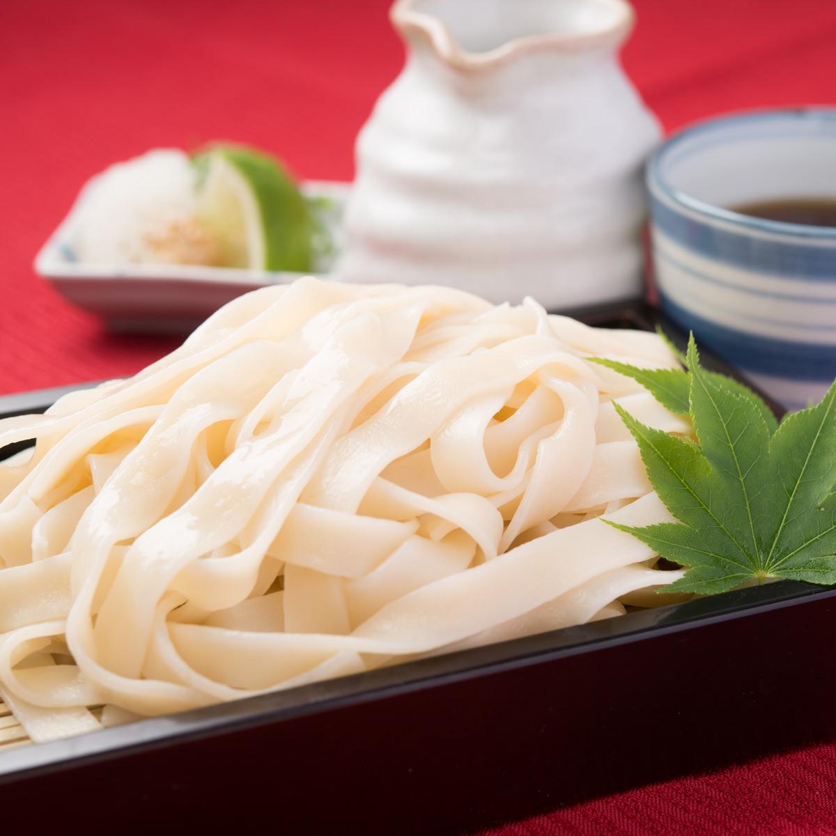 平切麺 讃岐うどん 6食 つゆ付〔麺300g×2・つゆ10ml×6〕
