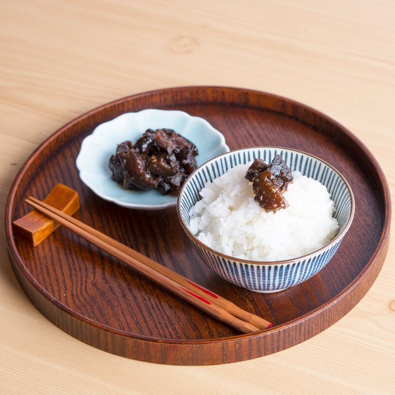 紀州特産ゆずの香りとしいたけの歯ごたえが絶品 ゆずと椎茸の佃煮〔150g〕