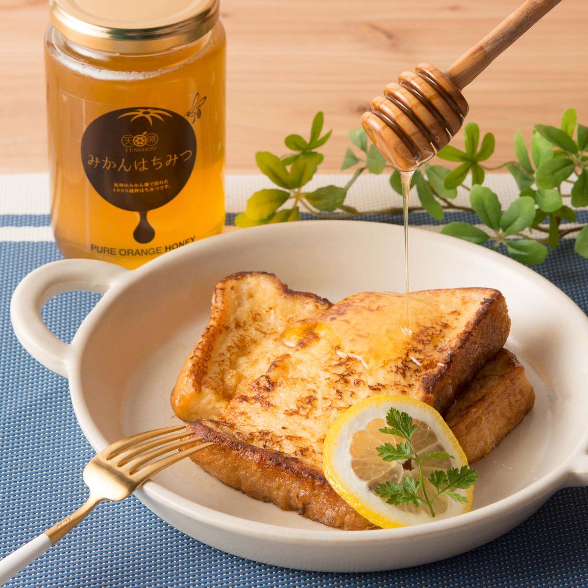 天照 紀州のみかん畑で採れた蜂蜜 国産純粋はちみつ みかんはちみつ 大サイズ〔450g〕