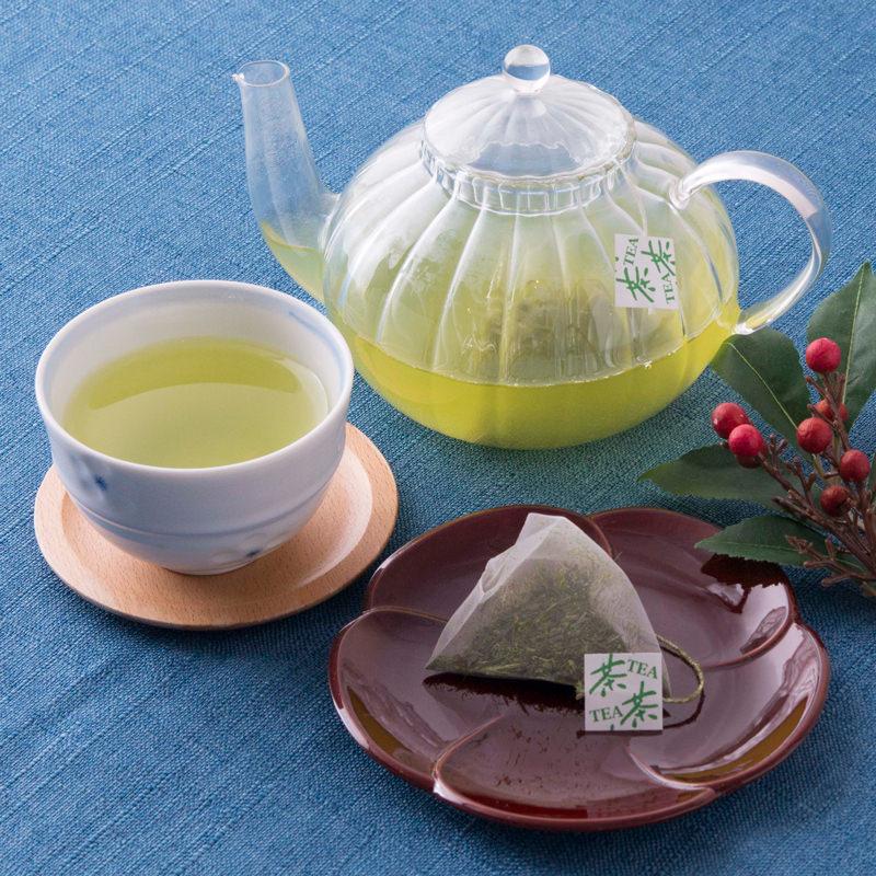 雪ふる山のおそぶき茶 あさひるよる茶 ティーパック〔煎茶×24・玄米茶×12・ほうじ茶×12・紅茶×10〕