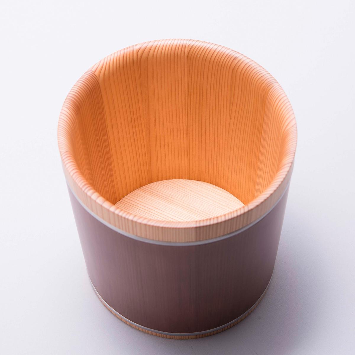 岡田製樽 お手入れ簡単 結露がつきにくく冷たさキープ 徳島県産杉 ワインクーラー〔Φ約19cm×H約20cm〕