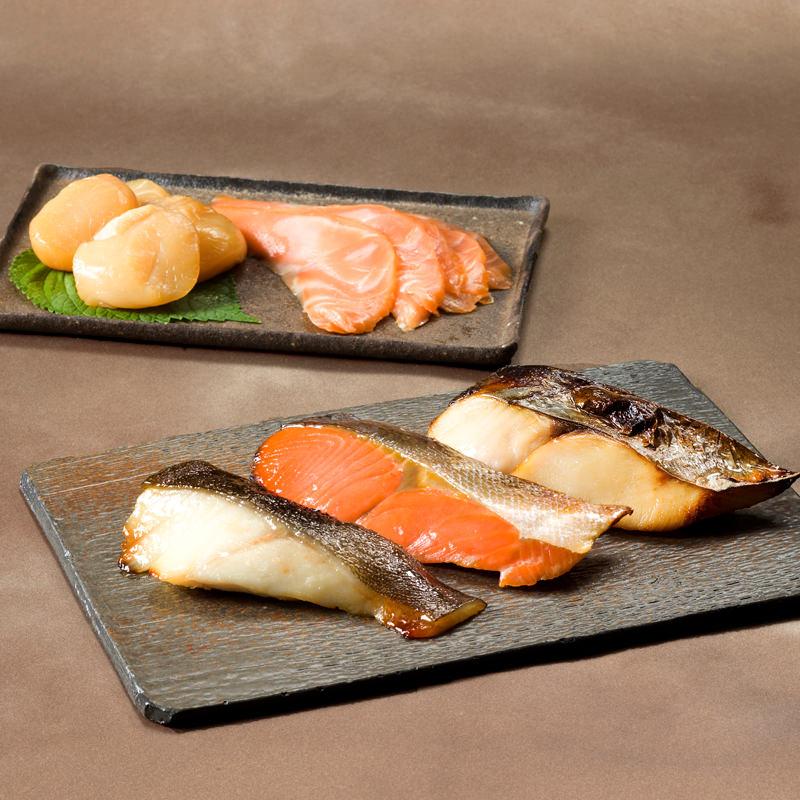 魚庵 魚に本気の職人仕込 ワインや洋酒によく合う 燻製と西京漬セット 福寿〔燻製2種・西京漬3種×各1〕