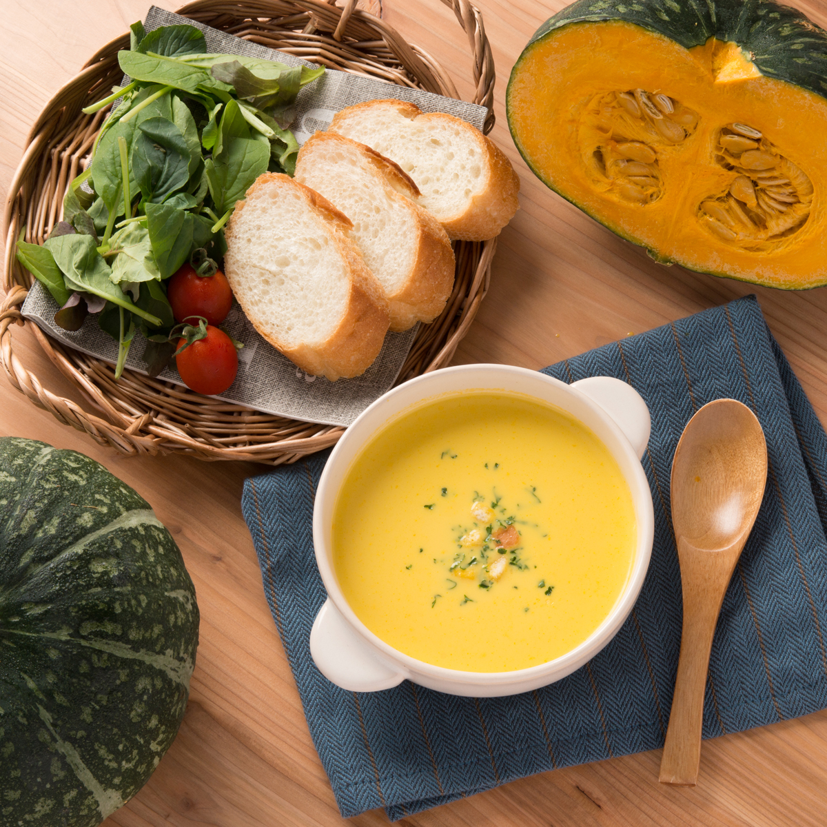 大城野菜生産農園加工所 かぼちゃスープと漉しカボチャ使って味わうスープの素〔スープ×3・素×4〕