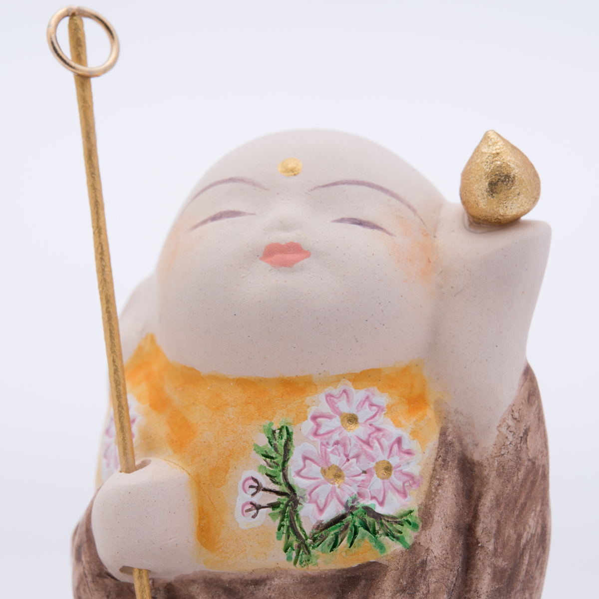 梶原博多人形工房 福岡伝統工芸 夢叶地蔵 〔人形3・木札・台座〕