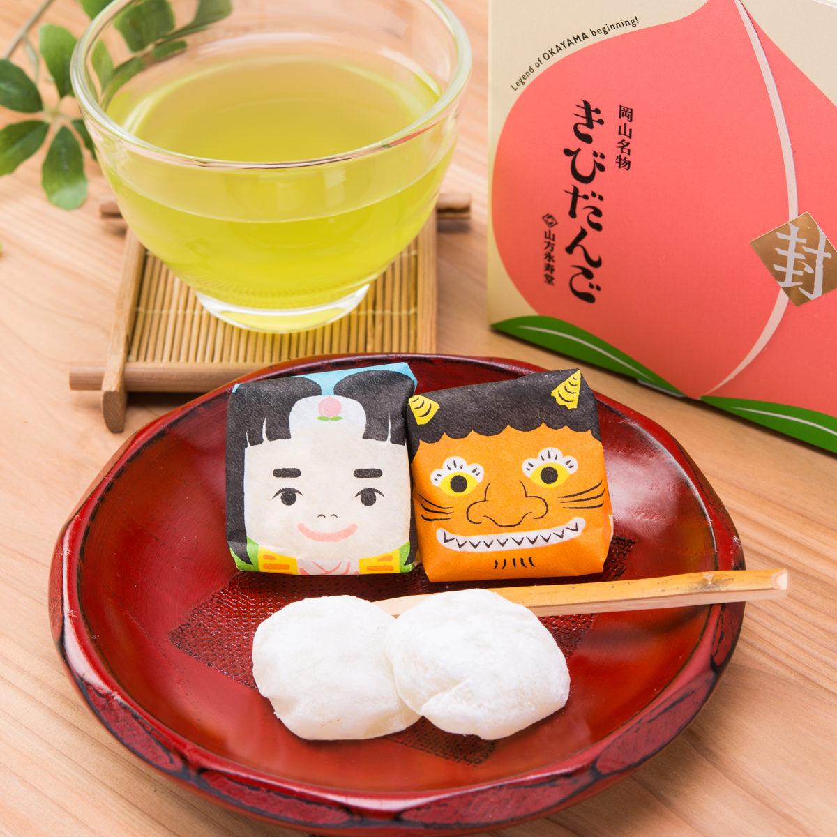 山方永寿堂 きびだんご プレーン味 かわいい桃太郎デザインが女性に人気 岡山土産〔10個入×6箱〕