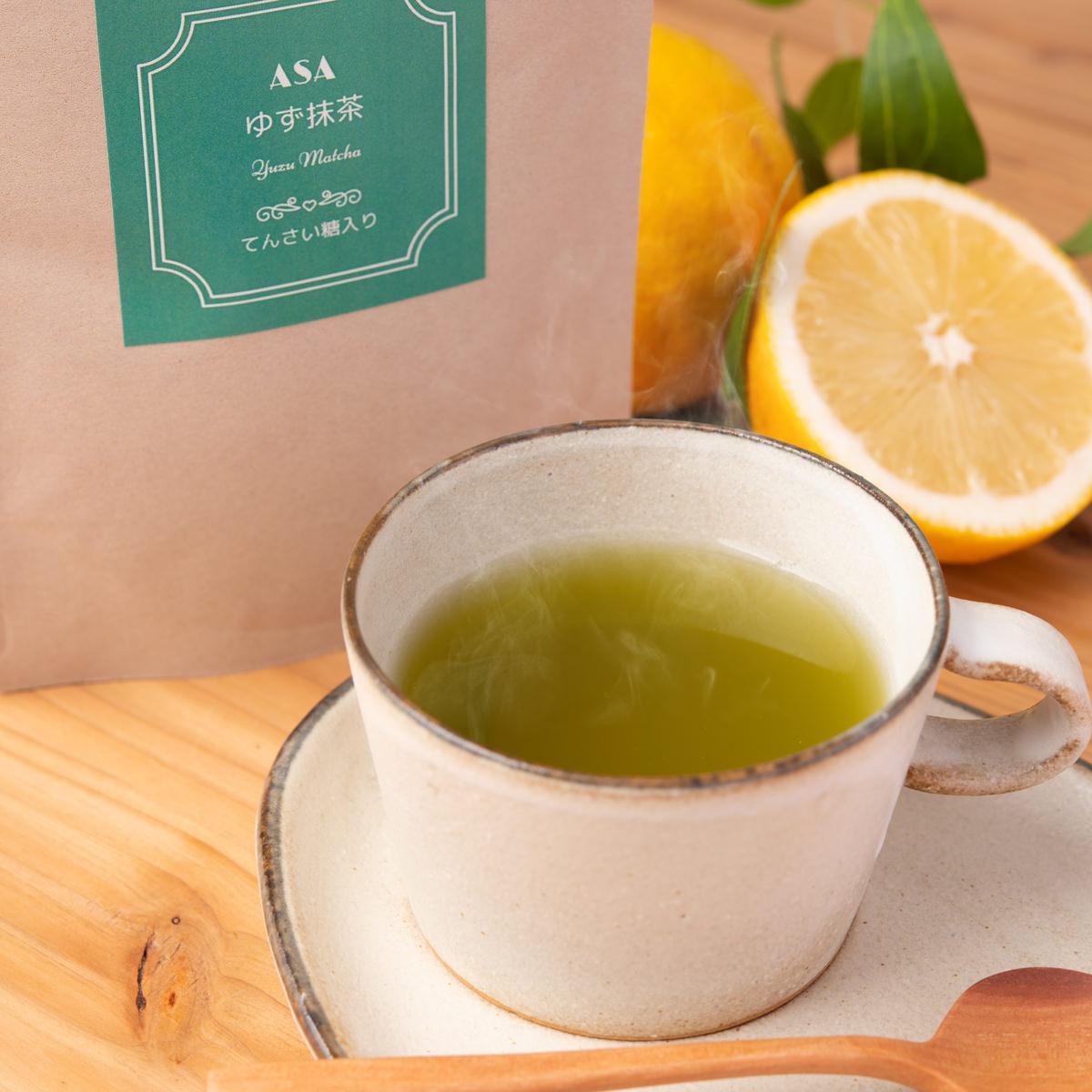 ゆず抹茶 3袋〔100g×3〕 北海道土産 てんさい糖入り お茶 ASA