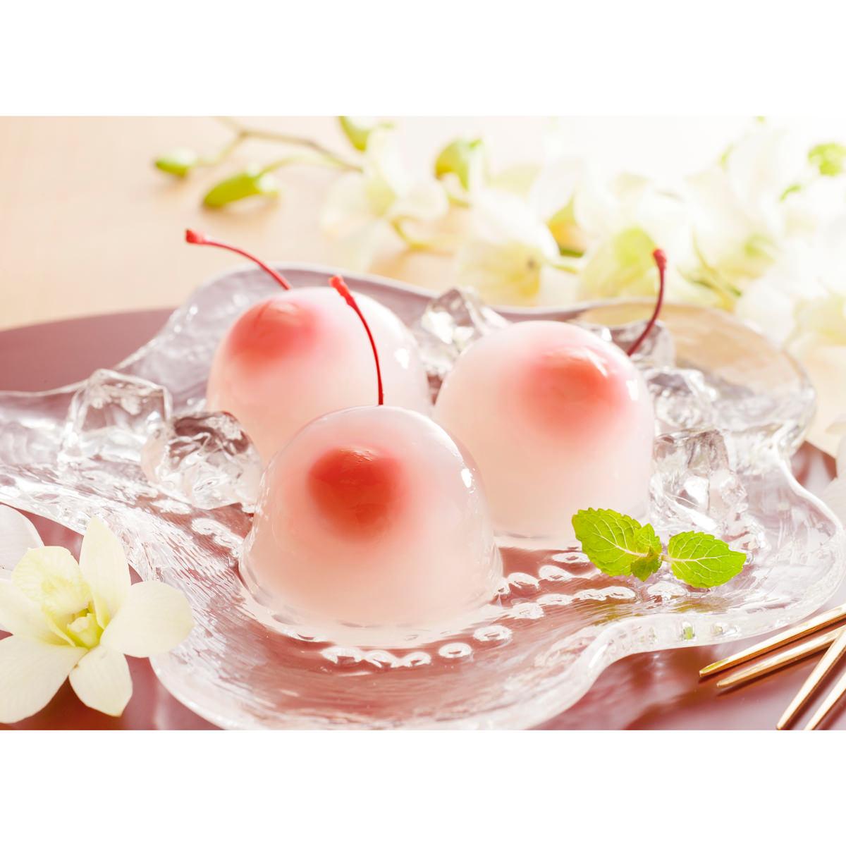 母の日 京都 養老軒 さくらんぼの水まんじゅう 〔さくらんぼの水まんじゅう62g×9 カーネーション付(造花)〕 和菓子