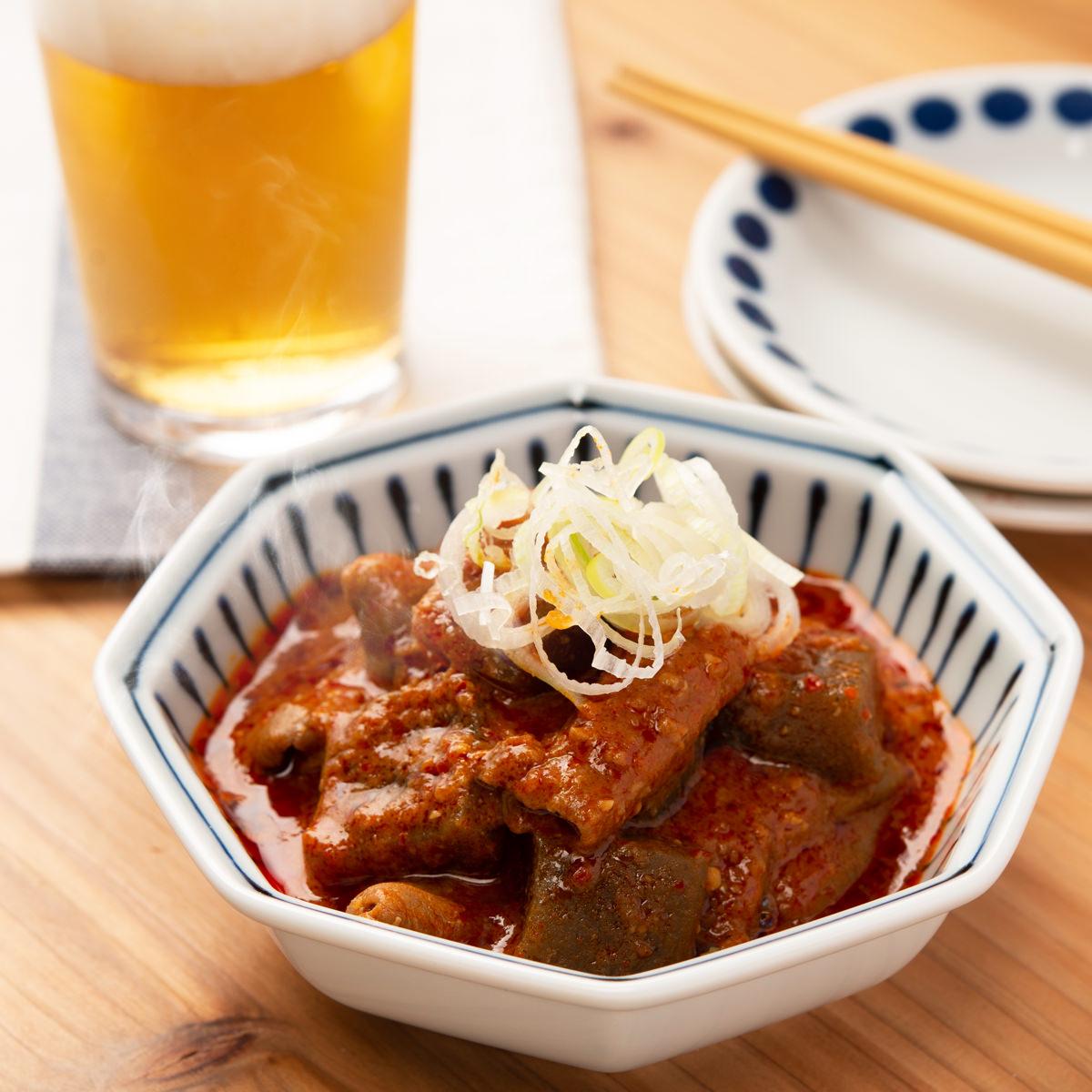 ジャン辛もつ煮 1人前×4個(箱入り) 〔240g×4〕 群馬県 惣菜 かみなり太郎