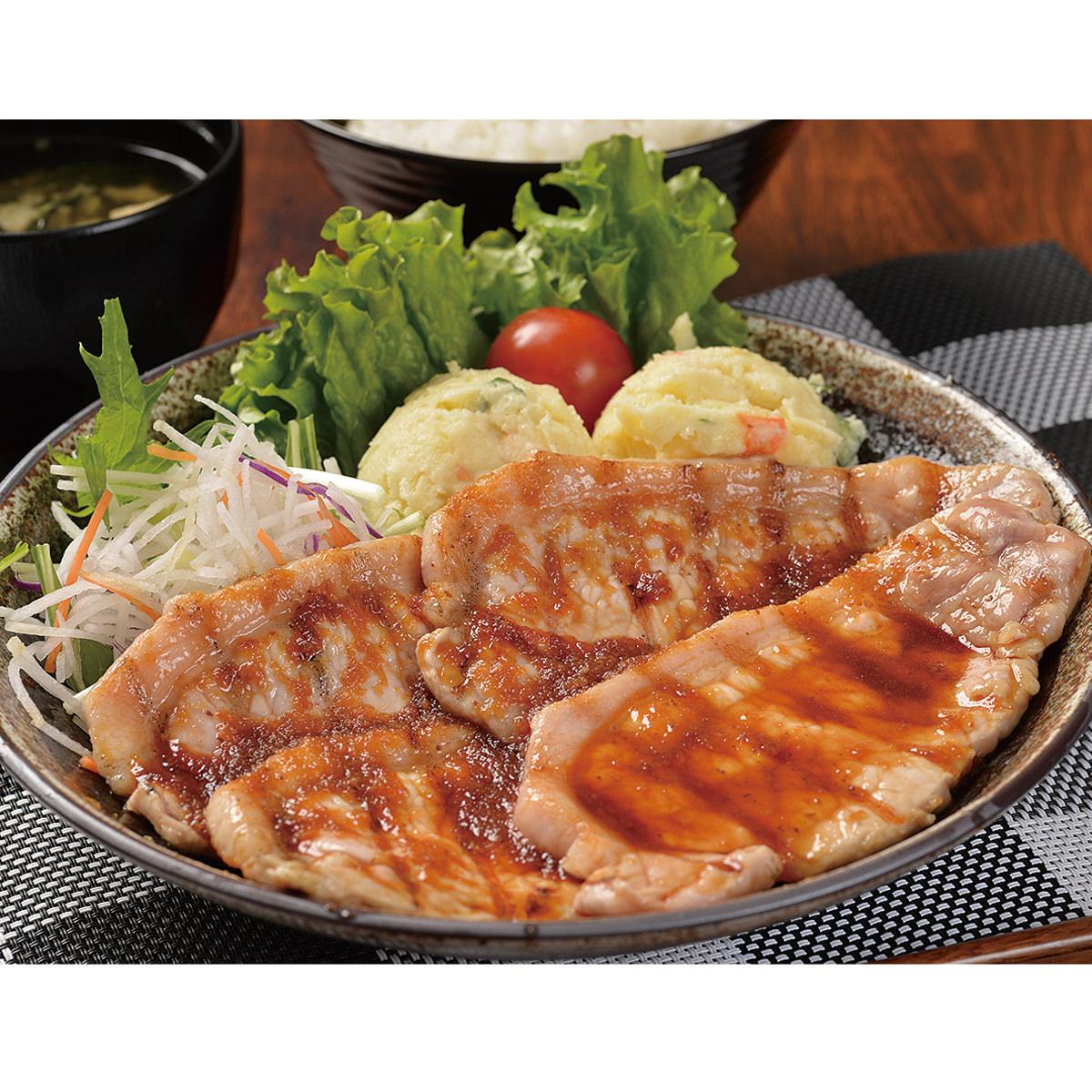 帯広ぶたいちの黄金生姜焼き豚ロースステーキ 〔100g×10〕 北海道 十勝 豚肉惣菜 北海道物産研究所