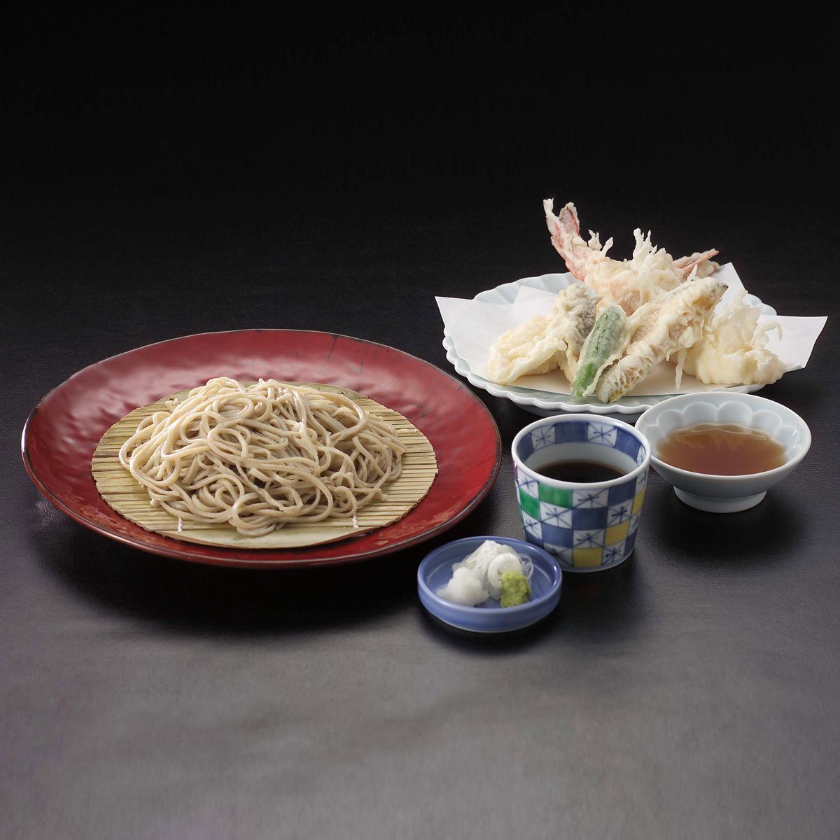富士の湧水冷凍手打式ゆで蕎麦8人前(つゆ付) 〔冷凍そば180g×8、つゆ180ml×4〕 山梨県 日本そば 手打そばやまさと