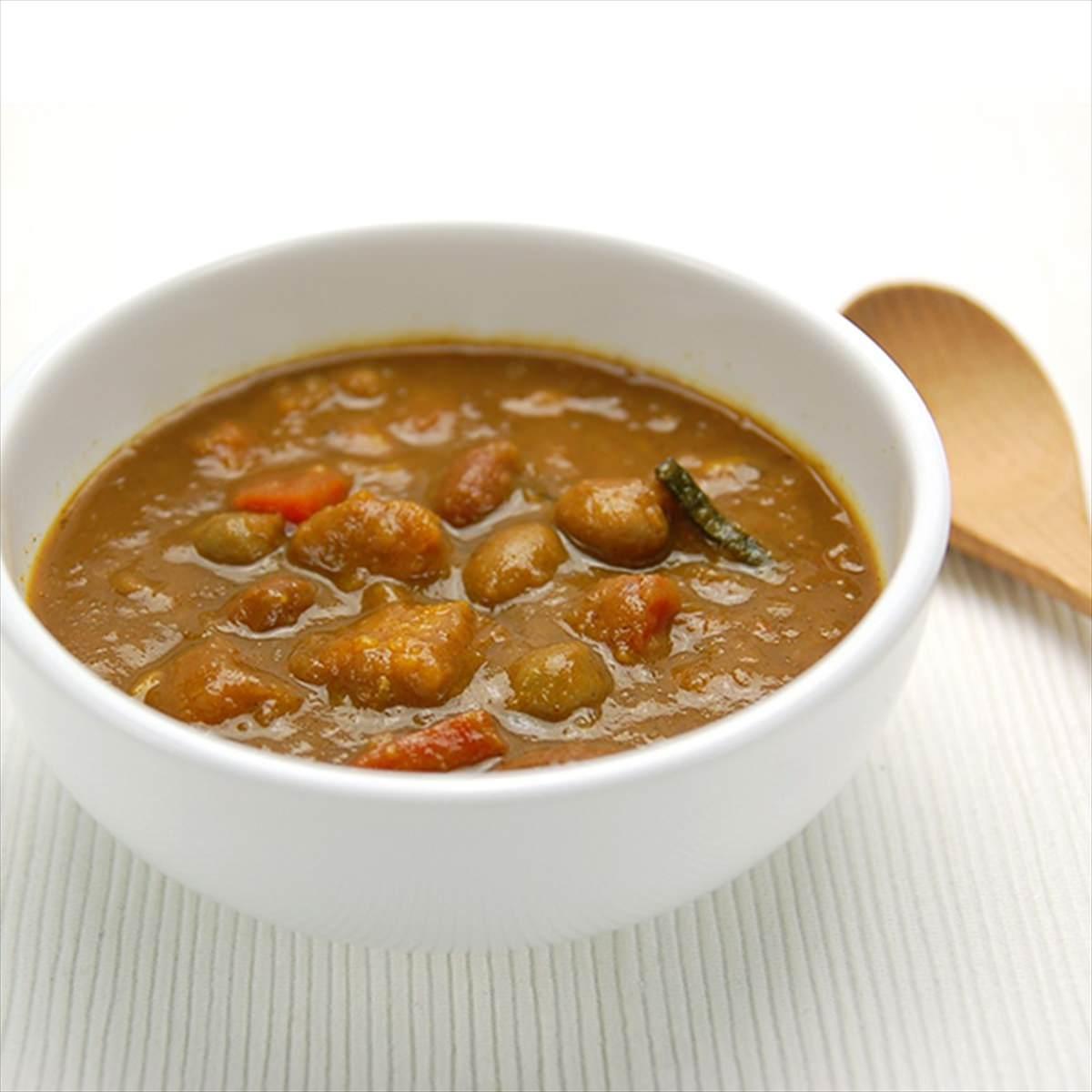 ケース 豆カレー 3種のお豆がお口の中でホクホク 40個 〔200g×40〕 東京都 無添加 レトルトカレー チャヤ マクロビオティックス