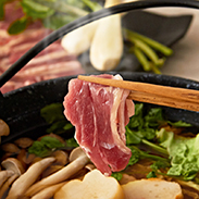 フランス鴨鍋セット〔鴨もも肉スライス4パック、鴨スープ4袋〕