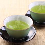 【一番茶摘み緑茶専門店】まるにやの九州産深むし茶『ハレーすいせい2号』とこだわりの無添加『しいたけ茶』2本入セット まるにや・大分県
