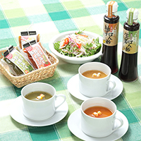 ヘルシーでお手軽な味噌汁と絶妙ぽん酢・「野菜みそすうぷ」と「ぽん酢」の詰め合わせセット 橋栄醤油みそ・石川県