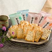 加賀かきもち(素焼き) 有限会社加賀かきもち丸山 石川県 5種類の素材の風味を引き立てる加賀地方の郷土銘菓