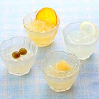 加賀かきもち丸山 フルーツくずきり 12ヶ入り〔梅・甘夏・ゆずレモン・もも各170g×各3〕
