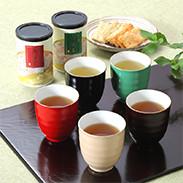 和ごころ湯呑で加賀茶を飲んで健康維持を!なごみ茶セット ギフト結・石川県