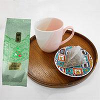 九谷結ツートンマグ 小皿・加賀の棒茶セット〔マグカップ、小皿、棒茶ティーバッグ4g×10個〕