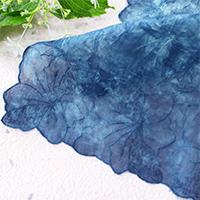 天然藍染レースハンカチ(3L) 藍染工房染屋たきうら・岩手県