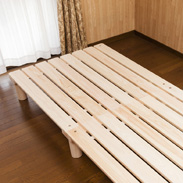 東濃桧ベッド「かおりちゃん」 夢幸望ハヤカワ 岐阜県 高級東濃桧100%で製作したヒノキのよい香りがするベッド。