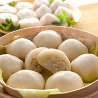 もち・プリ餃子セット 株式会社室蘭製麺 北海道 こだわりの道産素材を「もちもち、プリっ」とした皮で包みました。