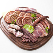 とうやこ町お肉屋さんの味の詰め合わせセット お肉屋さんたどころ 北海道 ぐる巻きソーセージをはじめ手造りハム、サラミなど盛りだくさんのセット