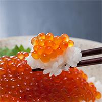 網元のいくら醤油漬 三協水産株式会社 北海道 北海道日高産の銀毛秋鮭の卵を使用し、醤油と清酒のみで漬け込みました。