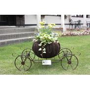 花馬車プランター Nonno Kampoca 恵庭商工会議所 北海道 「えびすかぼちゃ」と「花」をコラボさせた商品