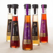 さくらんぼ酢と果実の酢セット 有限会社大橋さくらんぼ園 北海道 3種類のさくらんぼ酢とプルーン、プラムのお酢のセット。