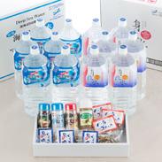 マリンゴールド 高知県 海洋深層水セット+調味料&おつまみ詰合せセット〔水(2L)全2種12本・調味料4種・おつまみ全2種6個〕