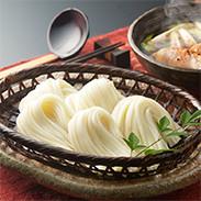 稲庭 麺の彩りギフト 株式会社後文 秋田県 「稲庭うどん」「稲庭うどん国産」「稲庭素麺」「稲庭冷麦」。4種類の麺をセットにしました。