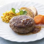 しまざき壮健牛ハンバーグセット 株式会社みどり工房 北海道 別海町の広々とした牧場で育った肉本来の旨みが強い和牛のハンバーグ。