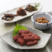 琵琶湖産佃煮、えび豆、赤こんにゃく詰合 有限会社大家 滋賀県 琵琶湖の恵みが詰まった伝統料理のセット。