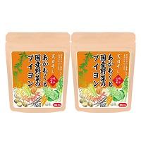 あかもくと国産野菜のブイヨン 2袋セット〔80g×2袋(スープ約64杯分)〕