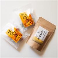 あぐりの里 房子さんのあとひく安納芋甘納豆と松寿園の生姜紅茶セット〔甘納豆80g×2・生姜紅茶3g×10〕