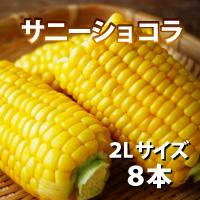 オビプロファーム 北海道十勝産とうもろこし サニーショコラ 2Lサイズ 8本〔約3kg〕