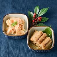 カネハツ食品 手づくりの美味しさ ニッポンのおふくろの味 たたきごぼうとたけのこ土佐煮〔2種×各1〕